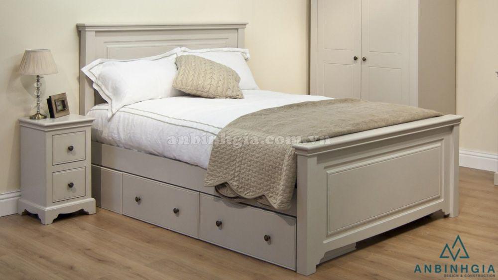 Giường có ngăn kéo gỗ MDF - GNK 03