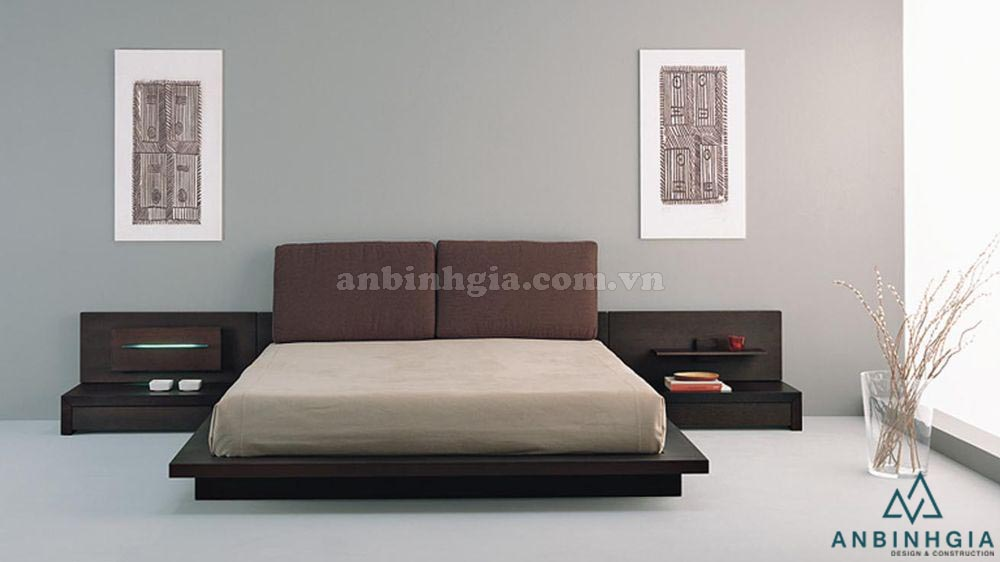 Giường ngủ kiểu Nhật gỗ MDF - GKN 07