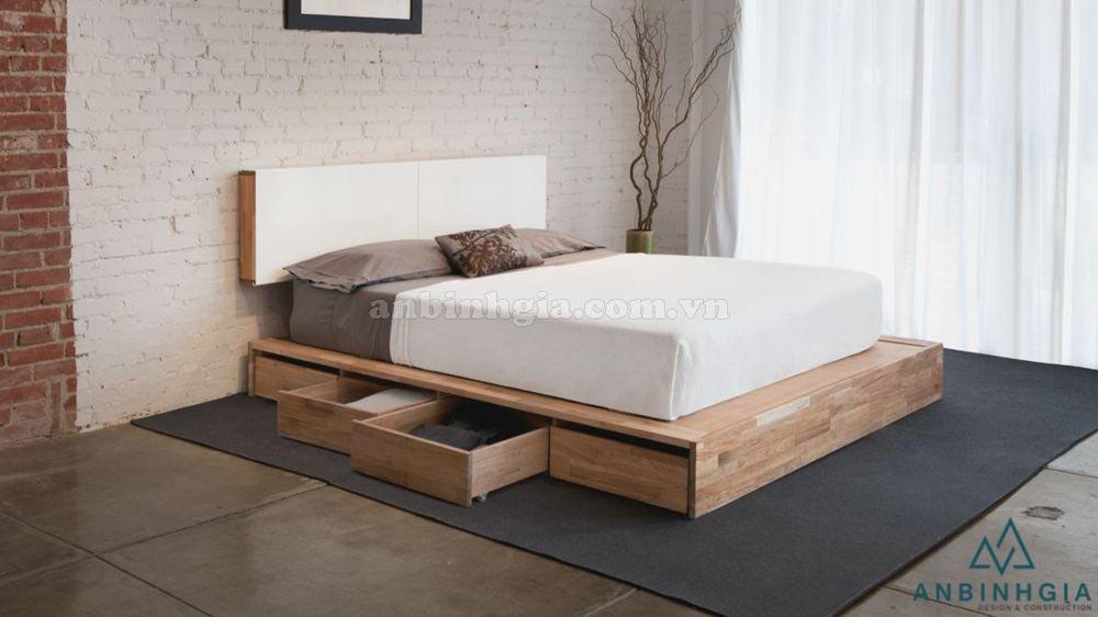 Giường ngăn kéo gỗ Sồi Mỹ - GNK 14