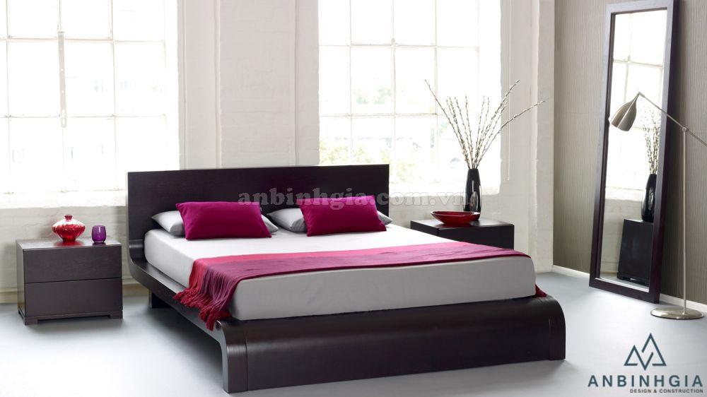 Giường ngủ gỗ Sồi Mỹ kiểu Nhật - GKN 15