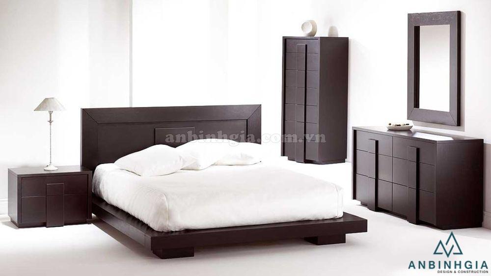 Giường ngủ gỗ MDF kiểu Nhật - GKN 17