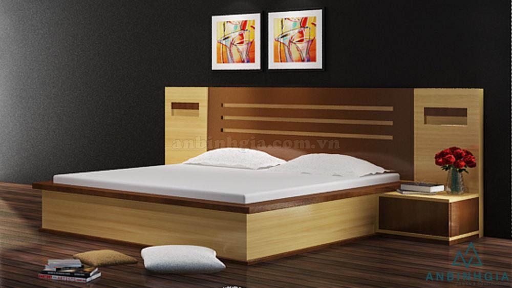 Giường ngủ 1m8 x 2m gỗ MDF - GCN 19