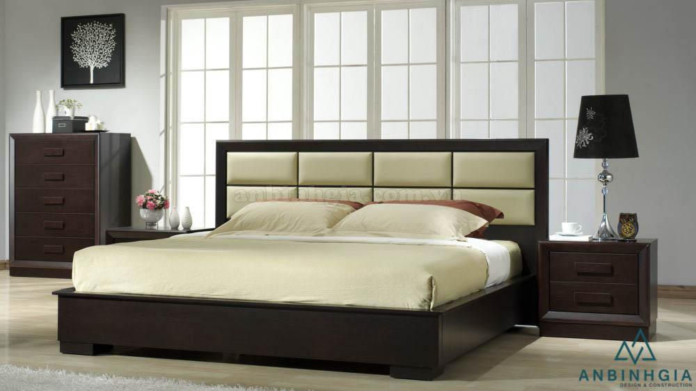 Giường bọc nệm bằng ván ép MDF-GCN 20