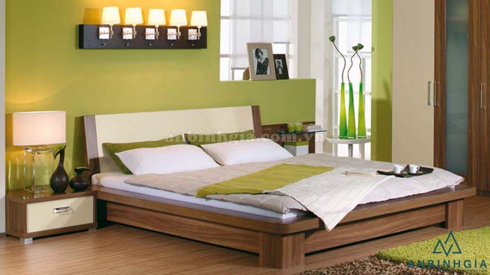 Giường kiểu Nhật gỗ MDF vân gỗ - GKN 20
