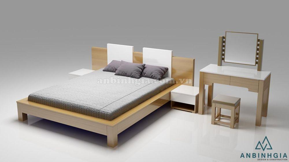 Giường đẹp kiểu Nhật bằng gỗ MDF - 21