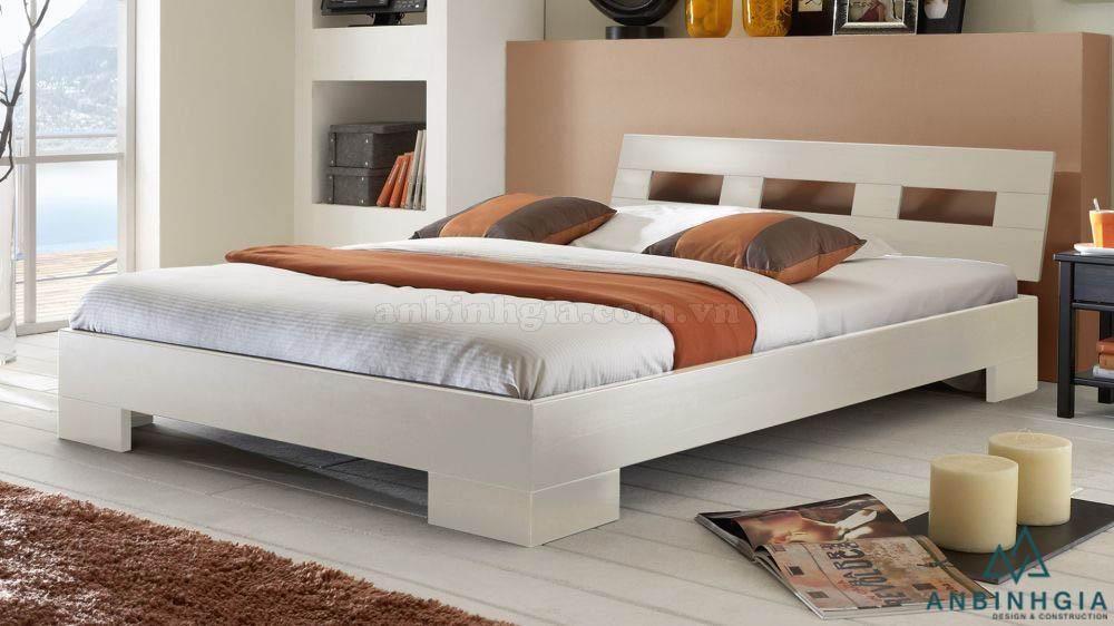 Giường gỗ ép MDF màu trắng - GCN 21