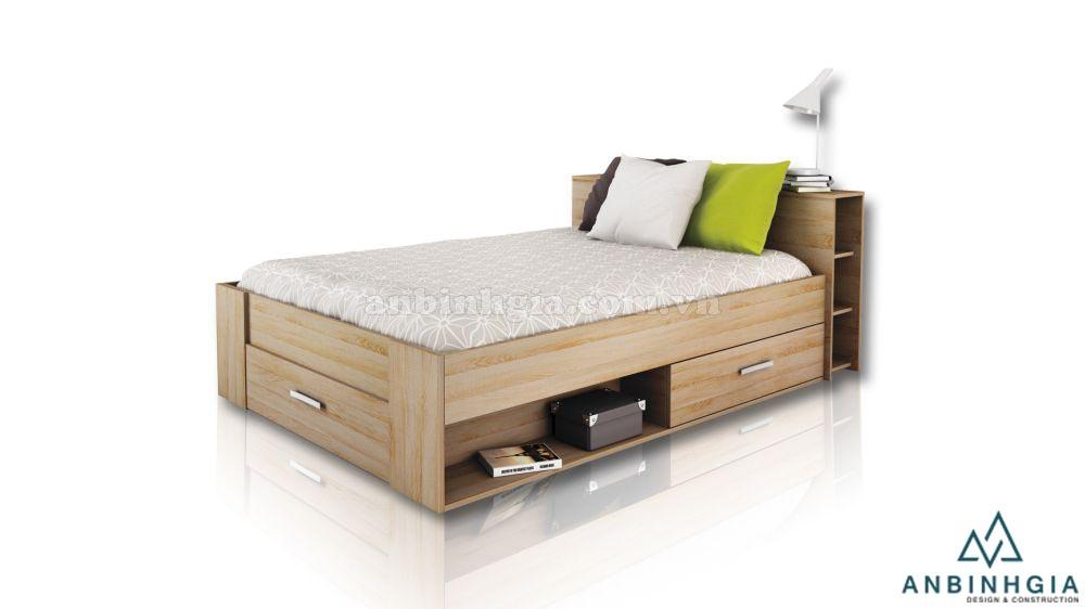 Giường có hộc kéo bằng gỗ MFC - GNK 22