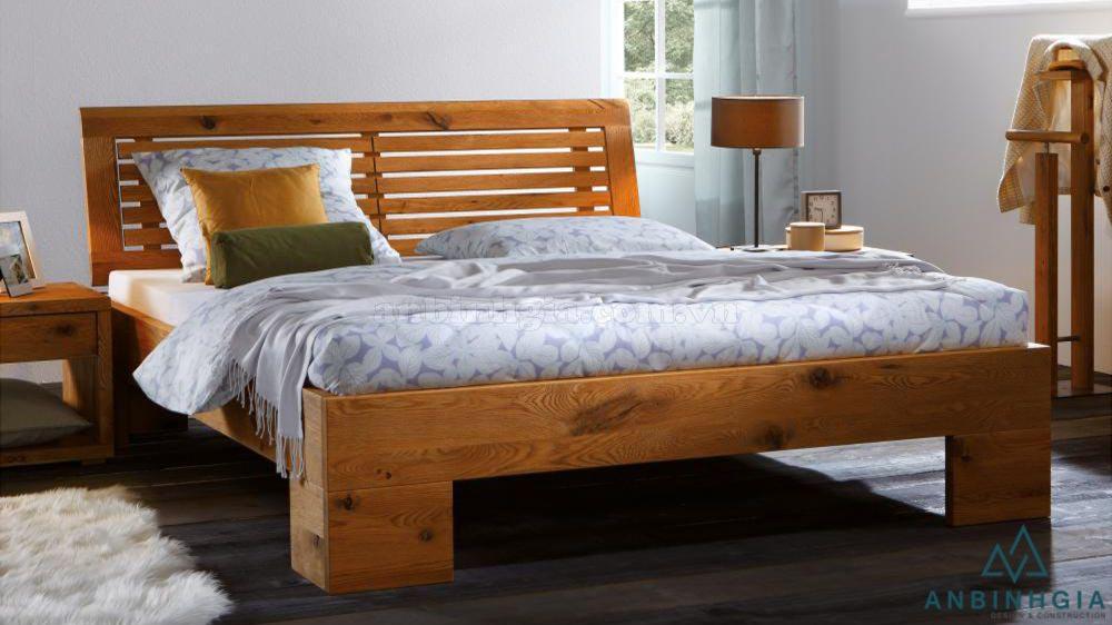 Giường đôi bằng gỗ Sồi Mỹ - GTN 29