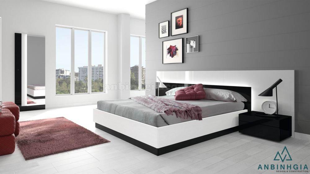 Giường ngủ ván ép MDF đẹp - GCN 29