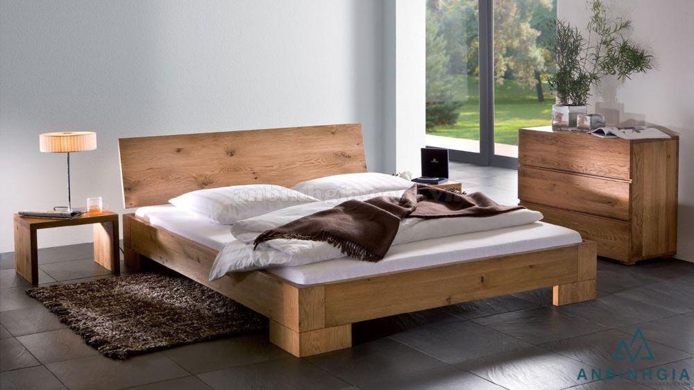 Giường gỗ nguyên khối Sồi trắng - GTN 30
