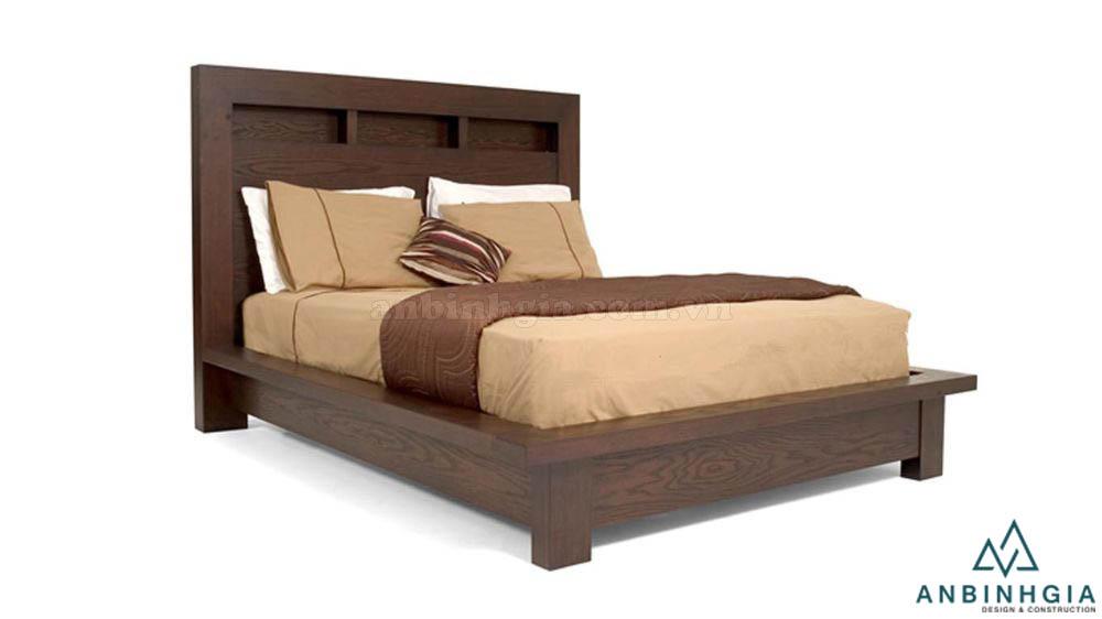 Giường ngủ MDF veneer Sồi Mỹ - GCN 31