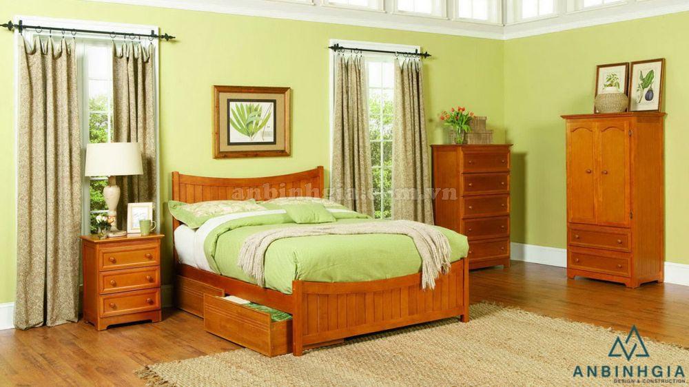 Giường kết hợp ngăn kéo gỗ Xoan Đào - 33
