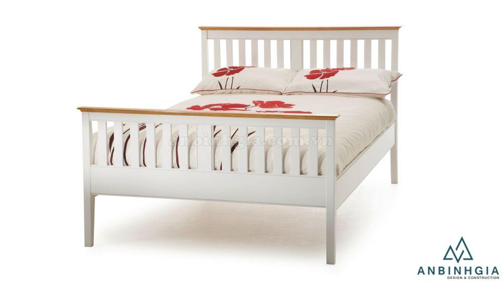 Giường ngủ gỗ Sồi Mỹ sơn trắng - GTN 35