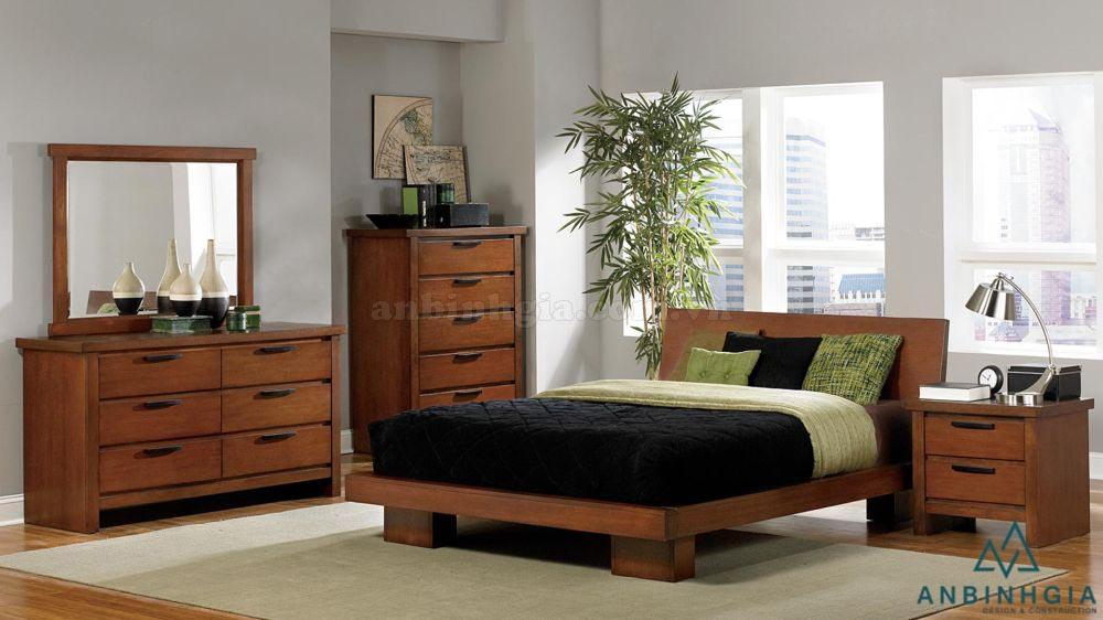 Giường ngủ đẹp gỗ Xoan Đào - GTN 41