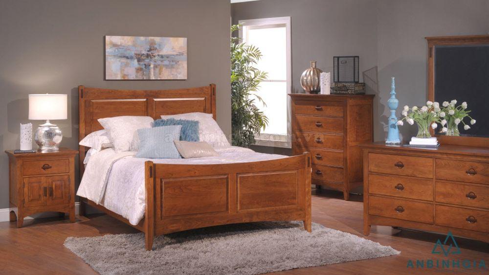 Bộ giường tủ gỗ Xoan Đào - GTN 44