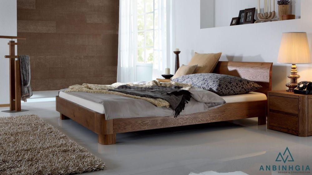 Giường gỗ tự nhiên Sồi Mỹ - GTN 52