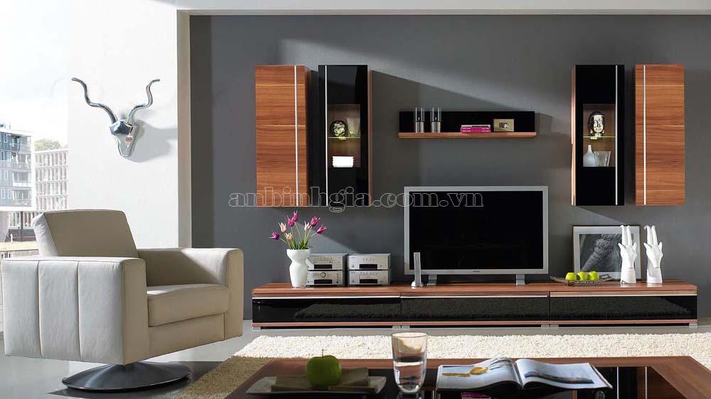 Kệ tivi phòng khách bằng gỗ