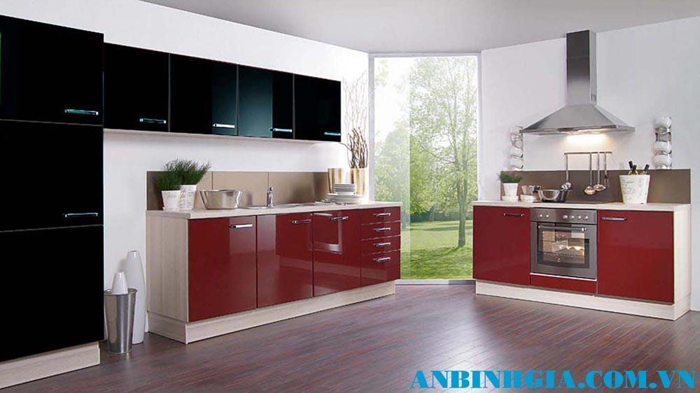 Tủ bếp Acrylic bóng gương - MS 01