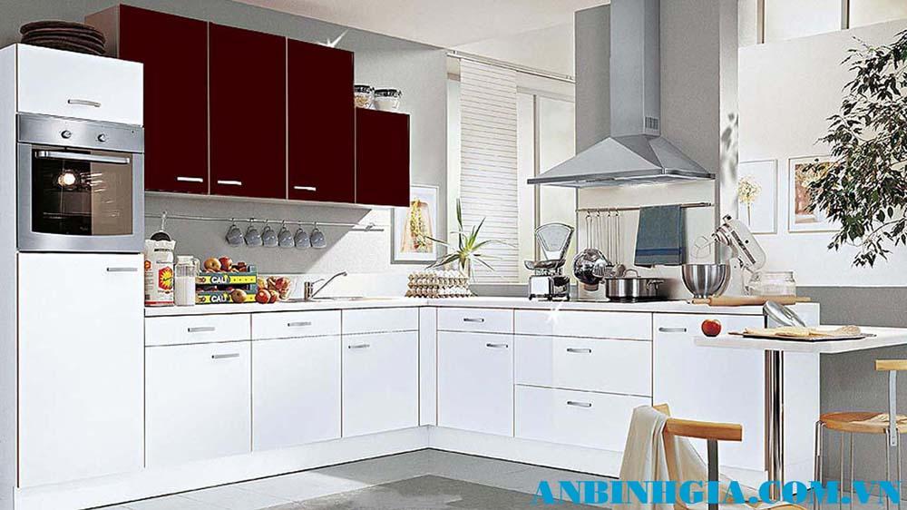 Tủ bếp bằng gỗ công nghiệp - MS 02