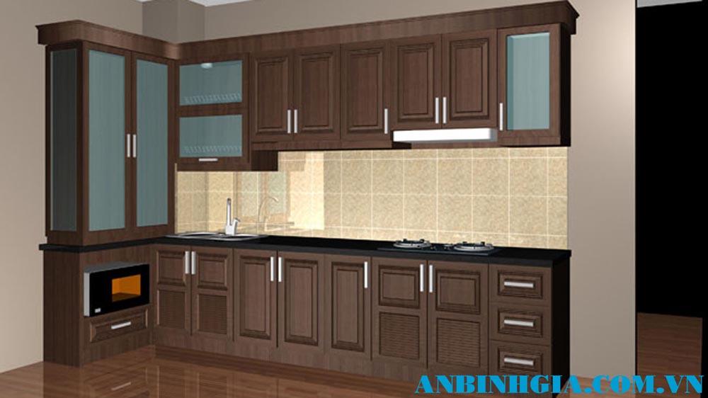 Tủ bếp bằng gỗ tự nhiên - MS 06