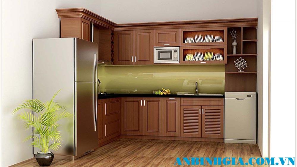 Tủ bếp đẹp cho nhà nhỏ - MS 14