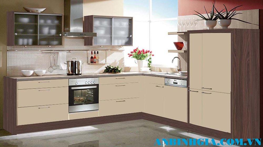 Tủ bếp đẹp chữ L - MS 16