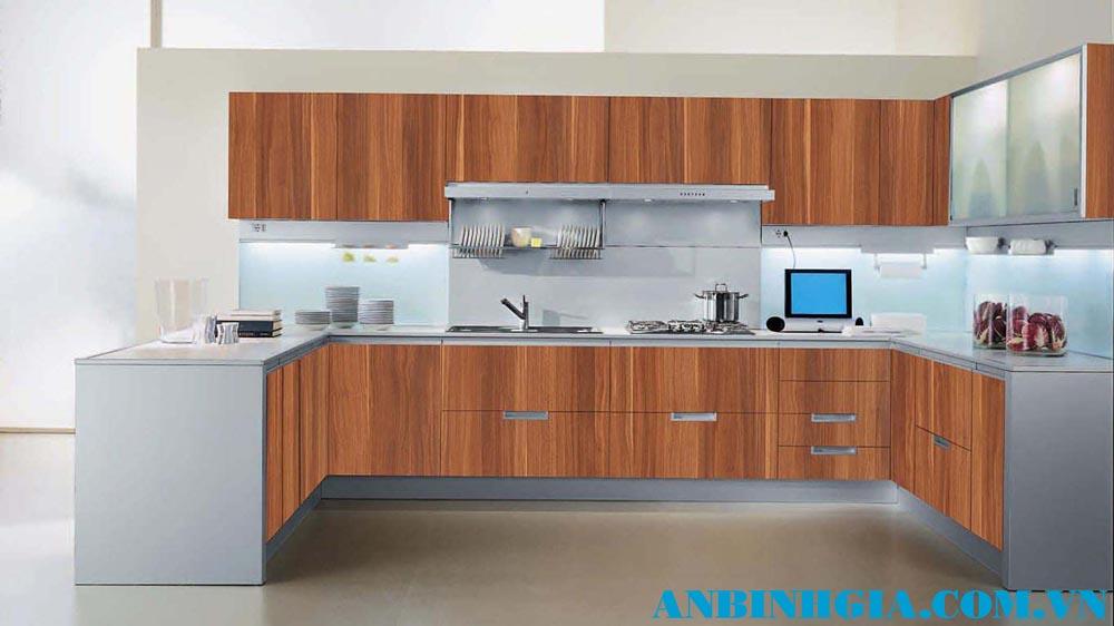 Tủ bếp đẹp chữ U - MS 17