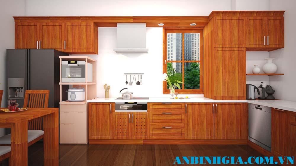 Tủ bếp đẹp gỗ Căm Xe - MS 19
