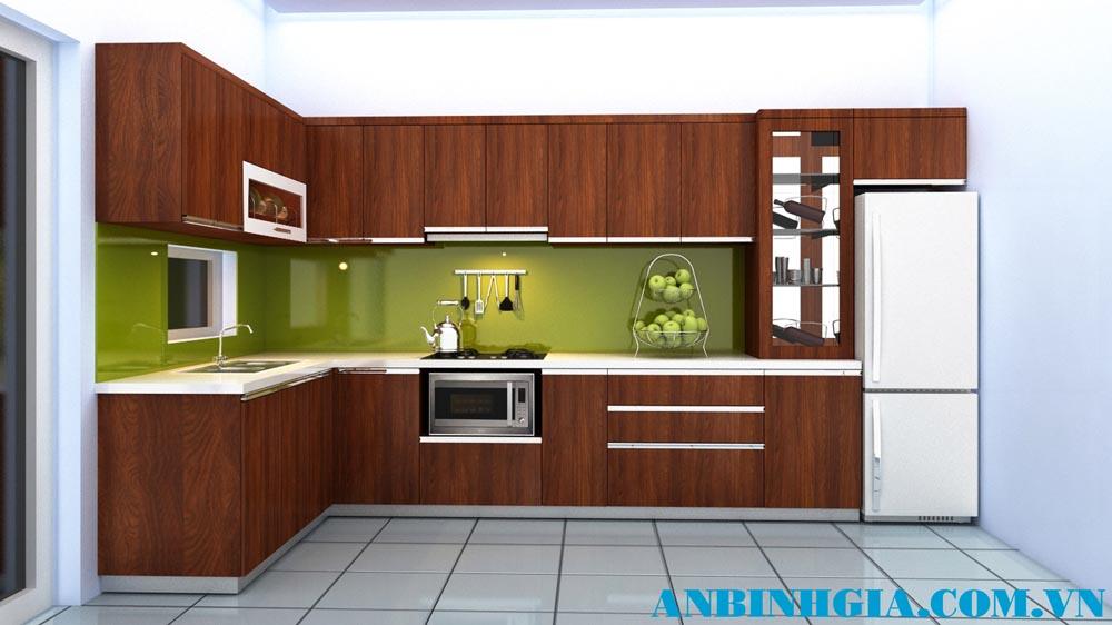 Tủ bếp đẹp gỗ tự nhiên - MS 23