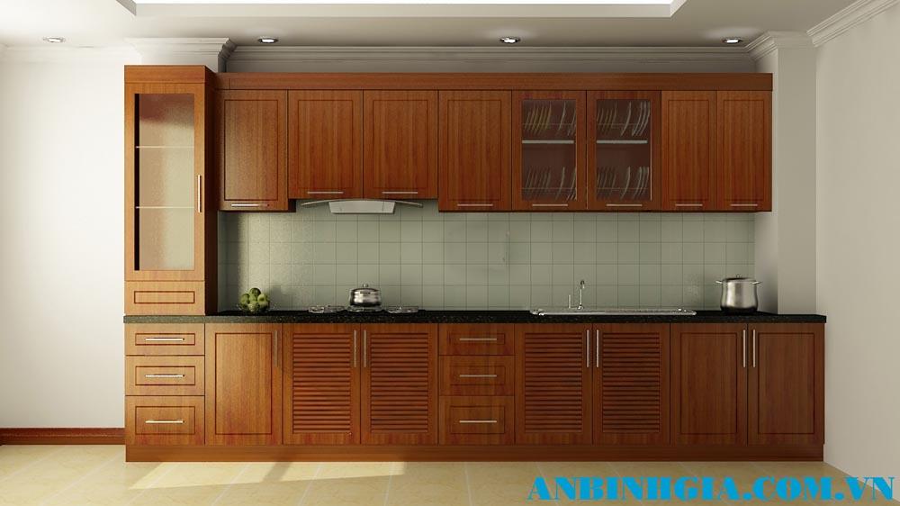 Tủ bếp đẹp gỗ Xoan Đào - MS 24