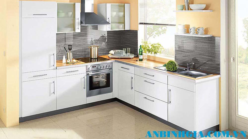 Tủ bếp đẹp màu trắng - MS 26
