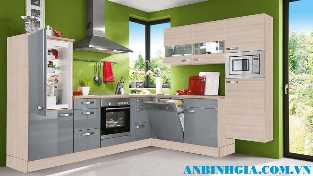 Tủ bếp đẹp màu xám - MS 28