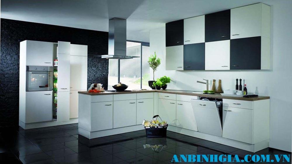 Tủ bếp gỗ Acrylic - MS 34