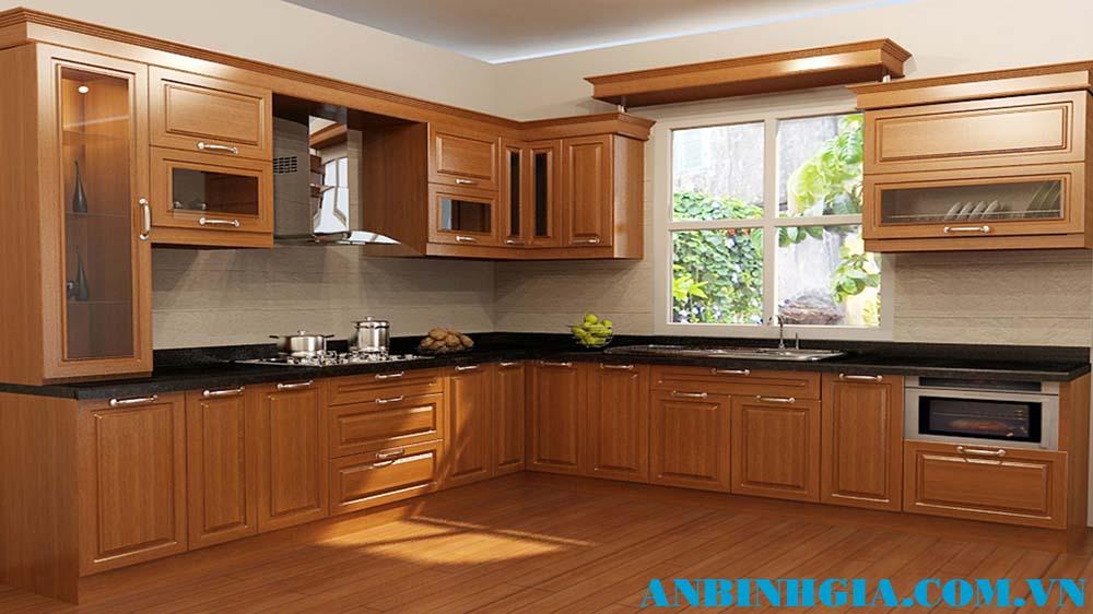 Tủ bếp gỗ Căm Xe đẹp - MS 35