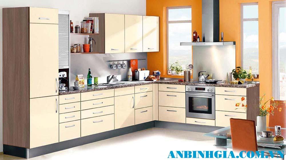 Tủ bếp gỗ công nghiệp MDF - MS 44