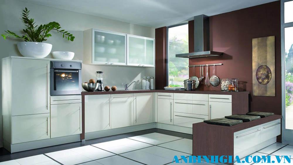 Tủ bếp gỗ công nghiệp - MS 42