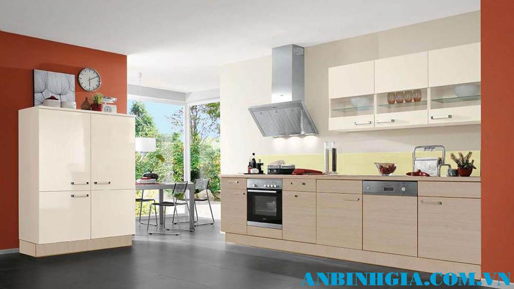 Tủ bếp gỗ đẹp ở TPHCM - MS 49