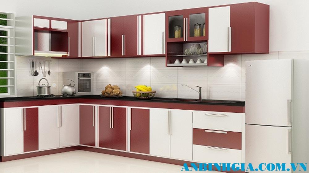 Tủ bếp gỗ MDF sơn - MS 54