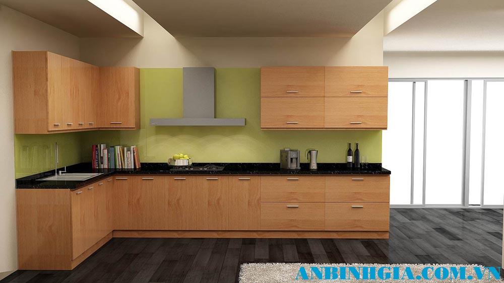 Tủ bếp gỗ MDF veneer - MS 55