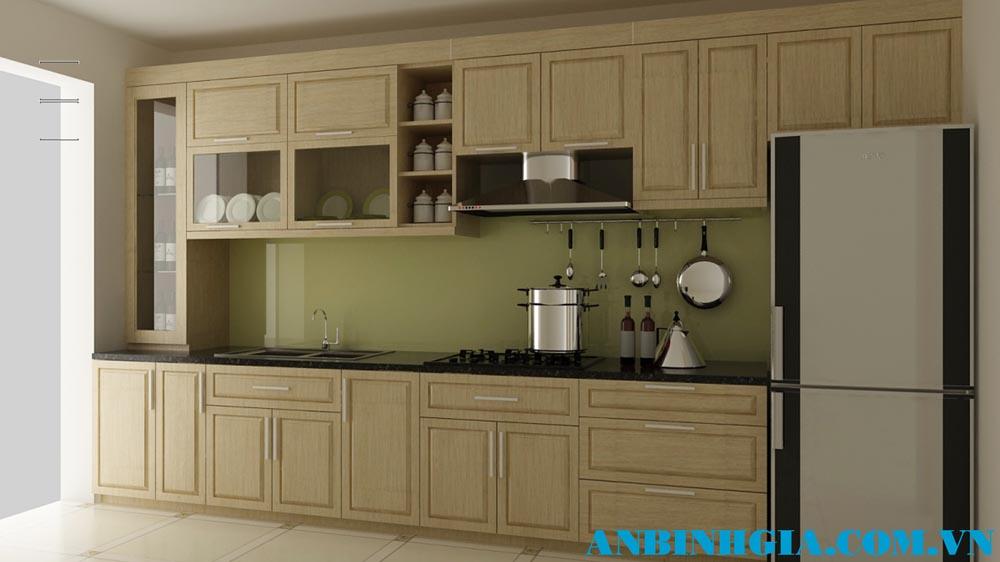Tủ bếp gỗ Sồi trắng tự nhiên - MS 61