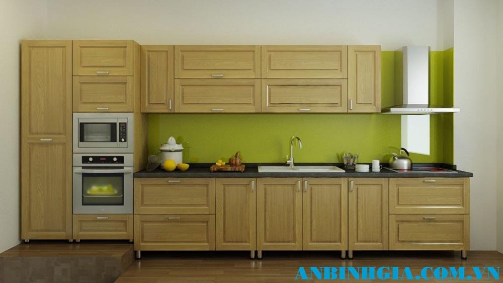 Tủ bếp gỗ tự nhiên Sồi Nga - MS 66