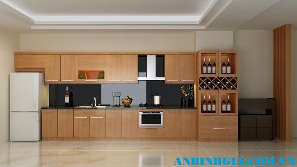 Tủ bếp gỗ tự nhiên - MS 63
