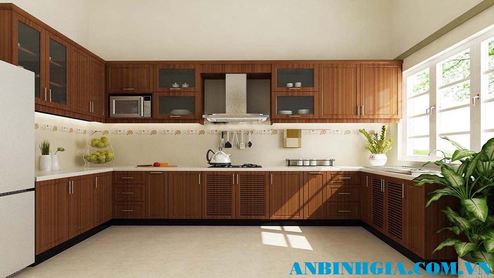 Tủ bếp gỗ Xoan Đào đẹp - MS 72