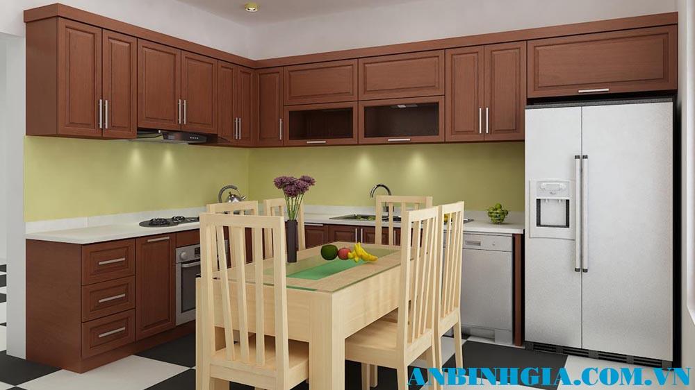 Tủ bếp kết hợp bàn ăn - MS 75