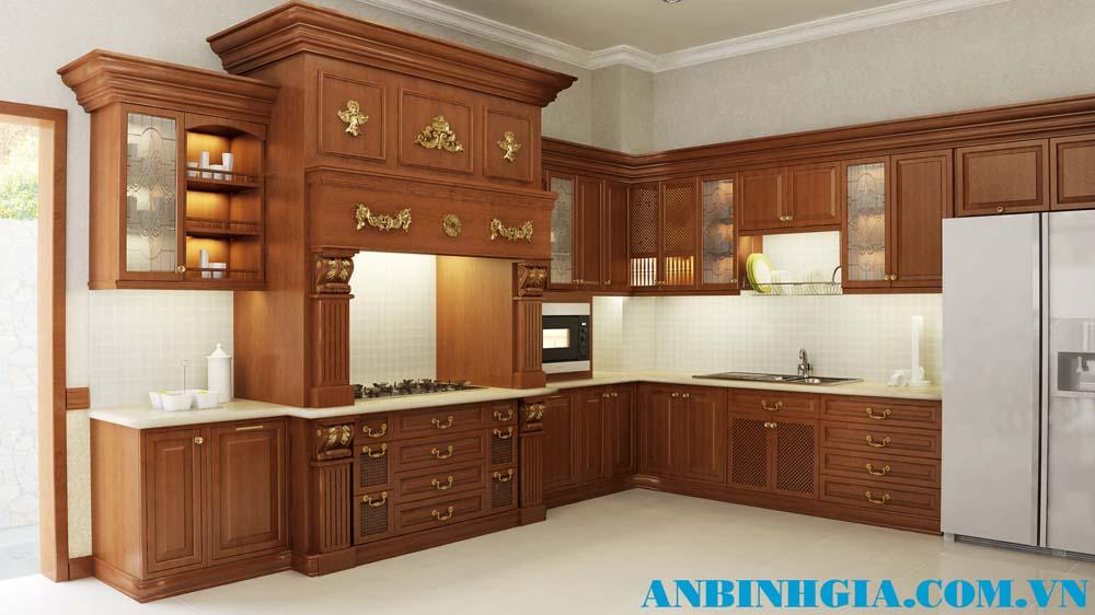 Tủ bếp phong cách Châu Âu - MS 80