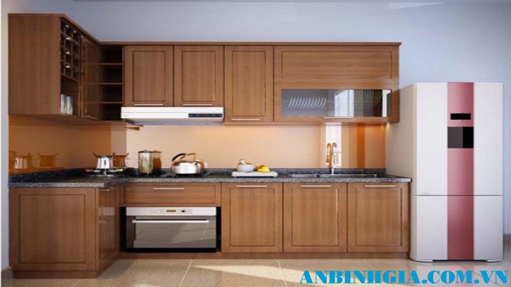 Tủ bếp veneer Sồi - MS 85